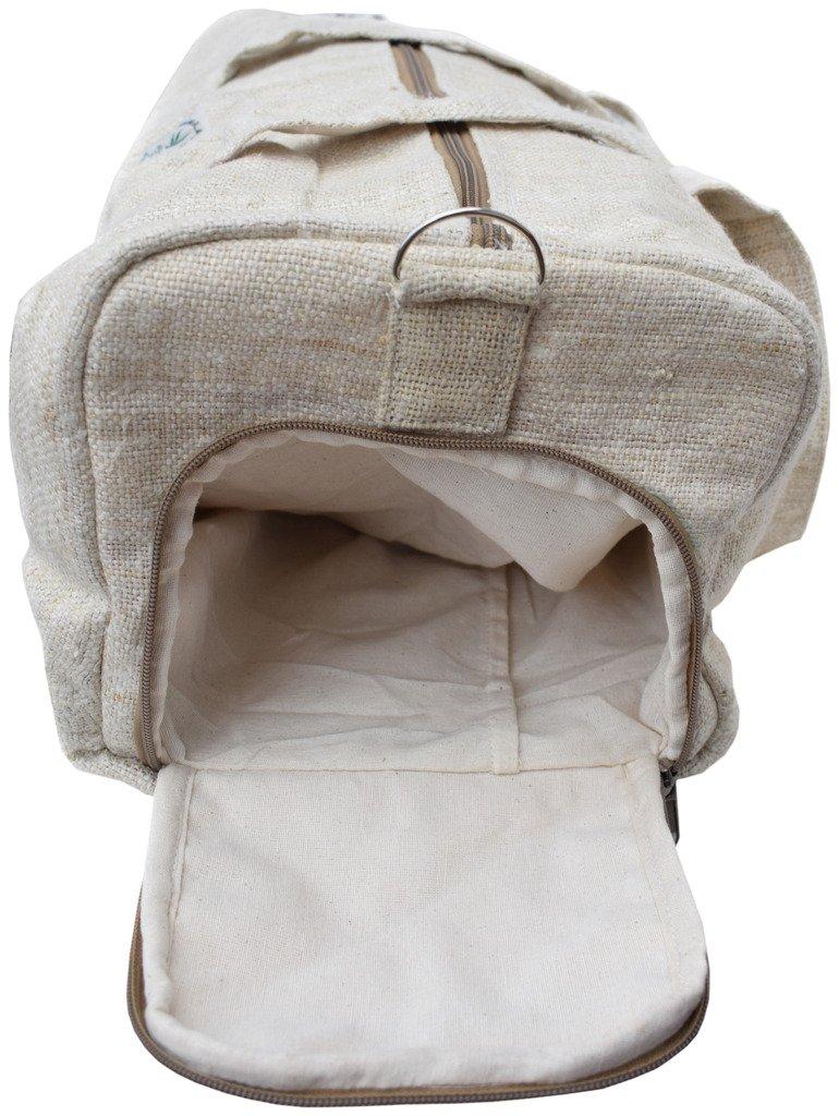 Gheri Natural Hemp Shoulder Duffle Bag Gym Bag A