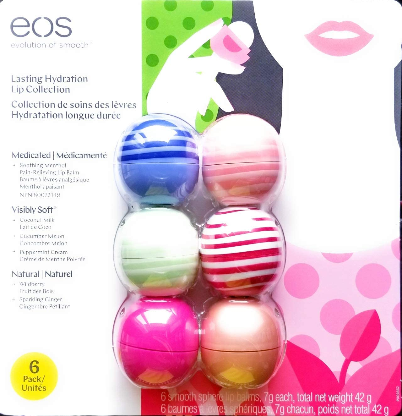 EOS Evolution Of Smooth Lip Balm Organic Lasting Hydration Lip Care Collection 6-Pack: Amazon.es: Belleza