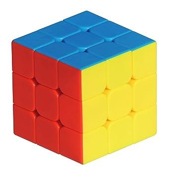 3x3 High Speed Stikerless Speedy Rubik Magic Puzzle for Develope Mind by OFIXO