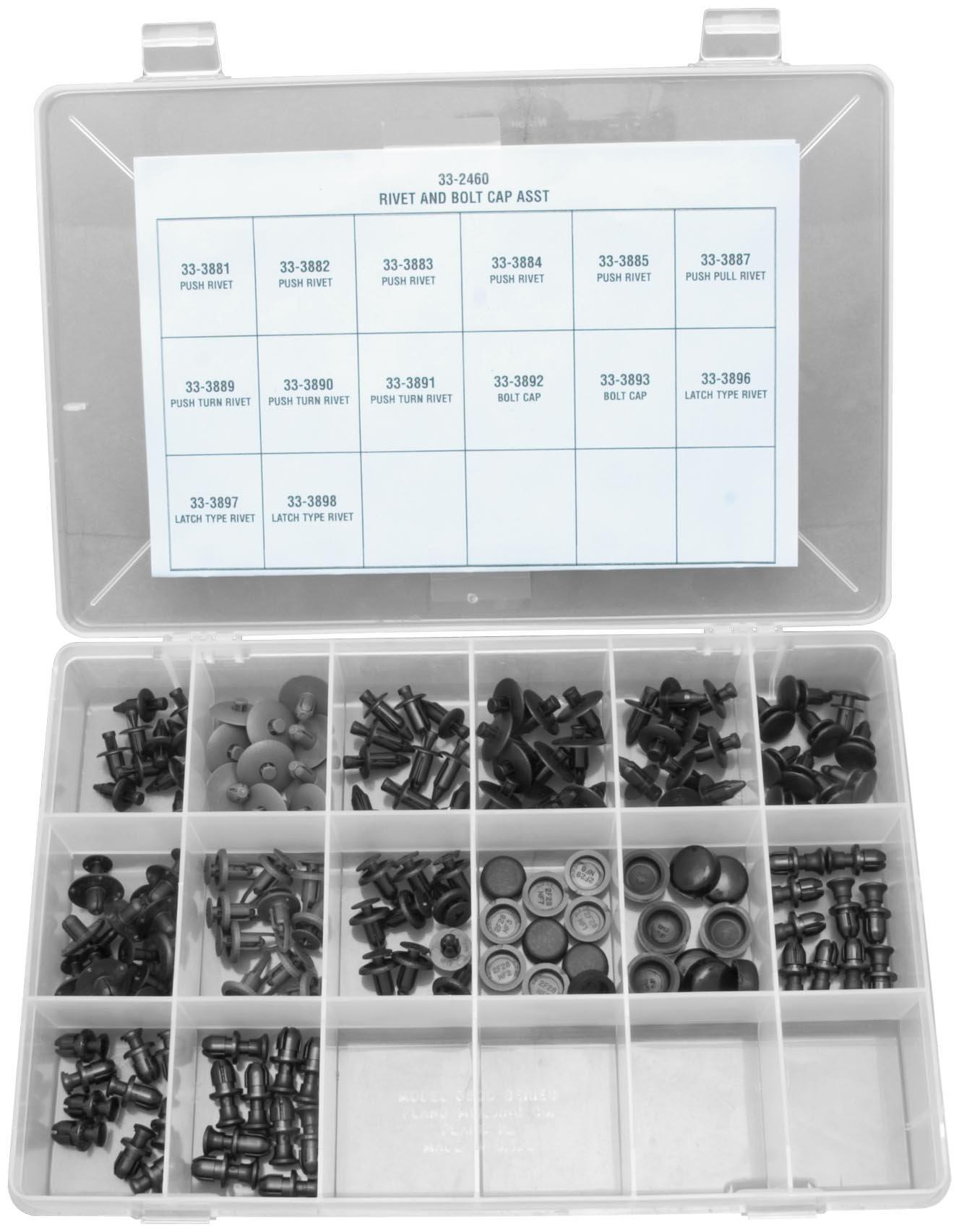 K&L Supply Rivet & Bolt Cap Assortment Kit 33-2460