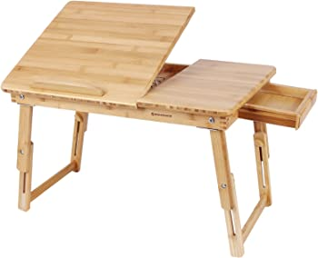 SONGMICS Bamboo Adjustable Lap Desk