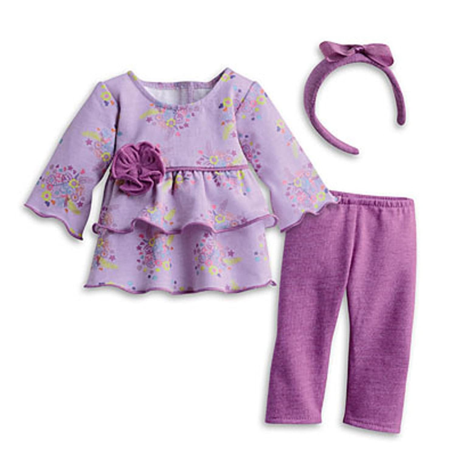 Amazon.com: American Girl Bitty Baby Purple Posies Outfit for 15