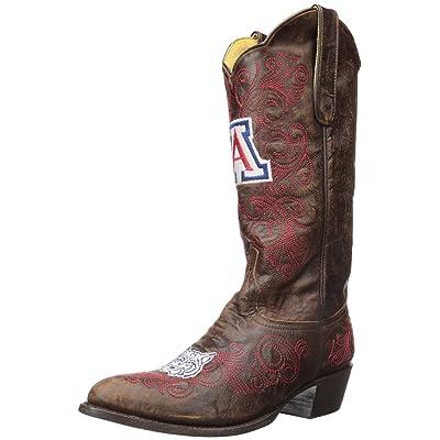 Gameday Boots NCAA Ladies 13 inch University Boot Arizona Wildcats, 8 B (M) US, Brass: Sports & Outdoors