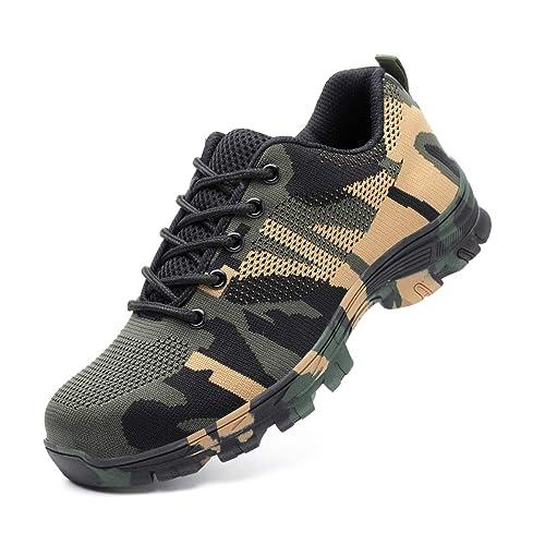 code promo 2696f be30d DoGeek Chaussure de Securité Homme Femme Legere Confortable Chaussures de  Travail Basket de Securite Homme Embout de Protection en Acier