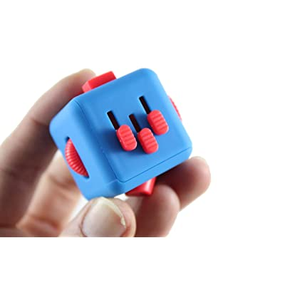 Curious Minds Busy Bags Fidget Cube - Square 6-Sided Fidget Toy - Twist, Click, Spin, Flip, Slide Soothing Calm Anxiety Toy for Classroom or Office Focus ADD ADHD: Toys & Games