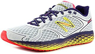 New Balance Women's Fresh Foam 980 White/Purple Cactus Flower/Neon Yellow 6 AA US