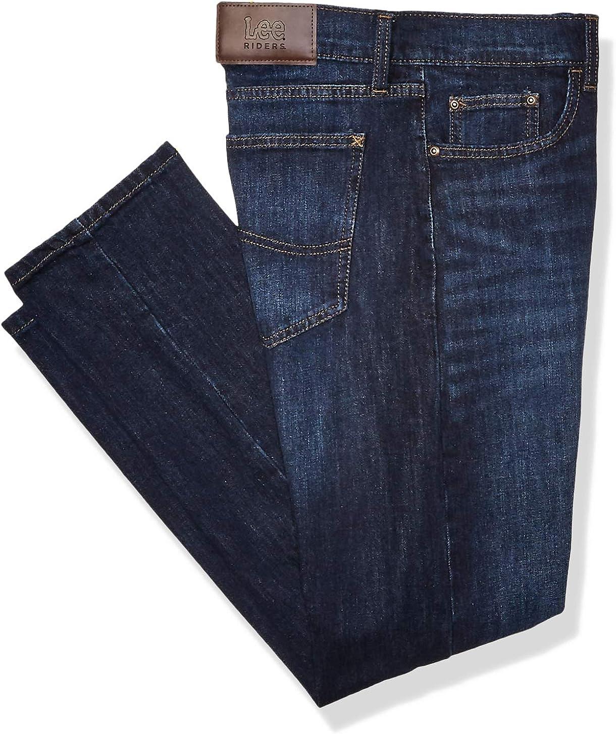 Lee Riders Indigo Mens Slim Straight Fit Jean Jeans