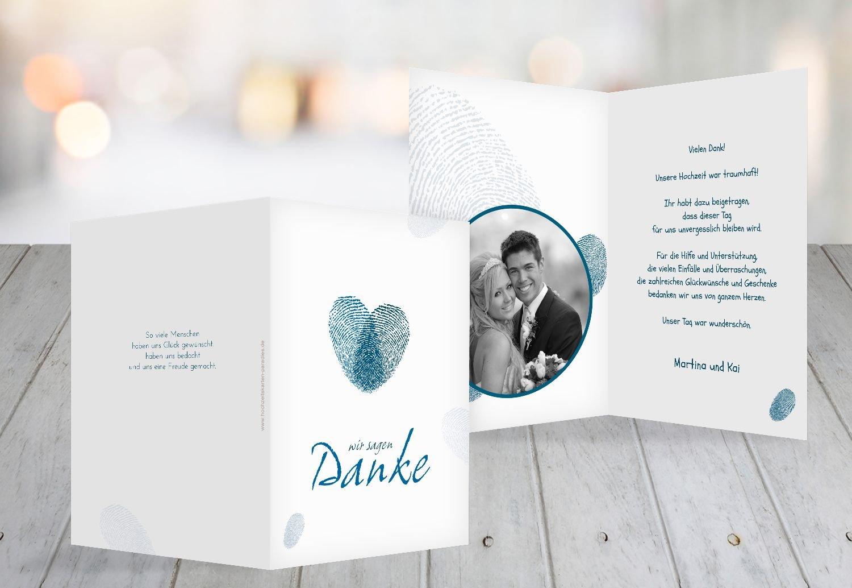Kartenparadies Danksagung für Hochzeitsgeschenke Hochzeit Dankeskarte fingerprint, fingerprint, fingerprint, hochwertige Danksagungskarte Hochzeitsglückwünsche inklusive Umschläge   20 Karten - (Format  105x148 mm) Farbe  RosaLila B01N5RPKDI | Kompletter Spezif 314488
