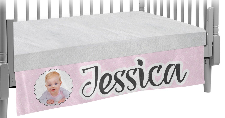 Baby Girl Photo Crib Skirt (Personalized)