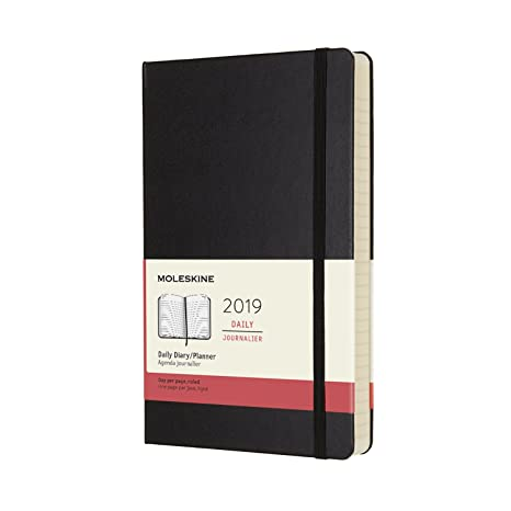 amazon com moleskine classic hard cover 2019 12 month daily