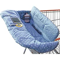 Shopping Trolley Cover for Baby or Toddler - 2-in-1 Highchair Cover - Compact Universal Fit - Modern Unisex Design for…