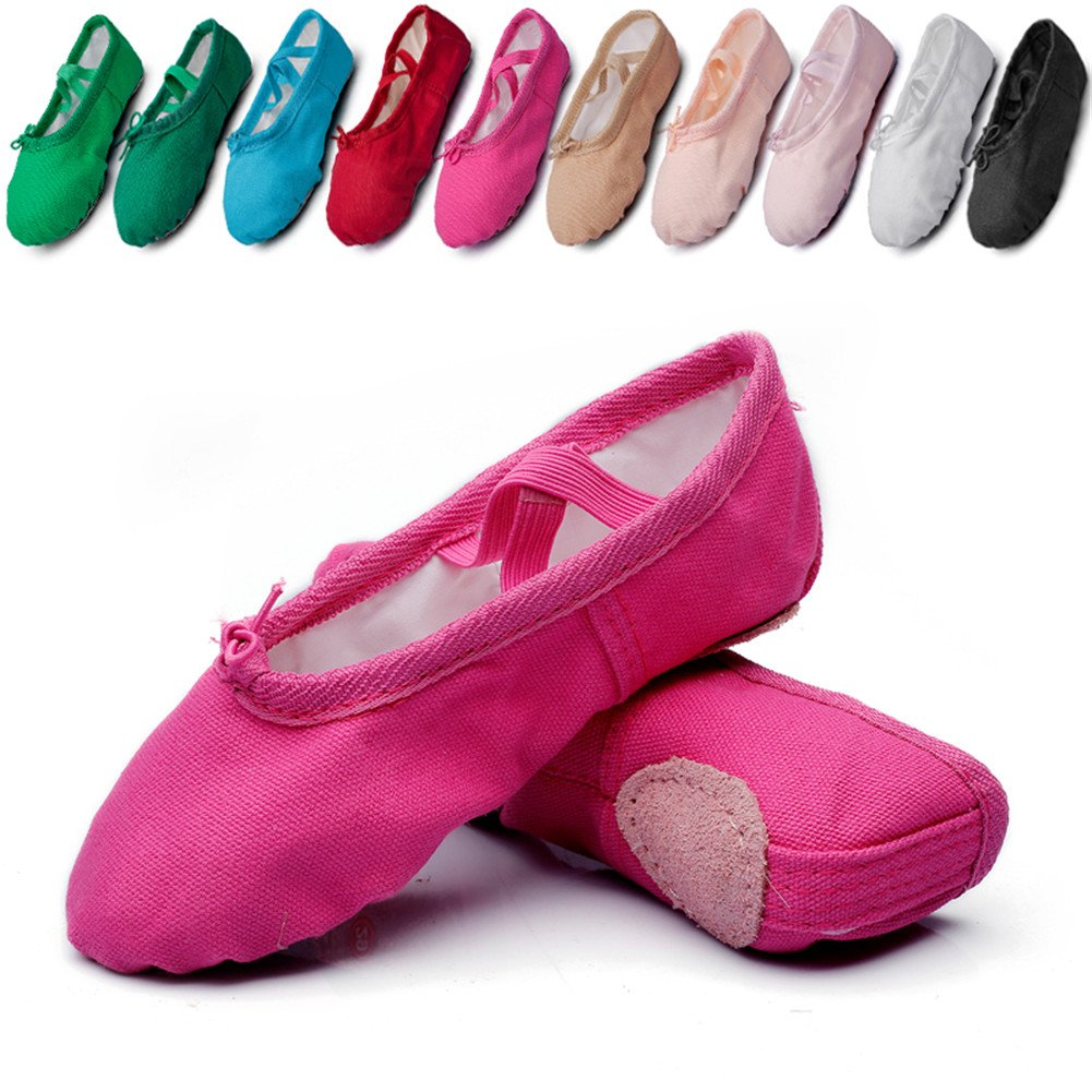 Classic Ballet Dance Flat Yoga Practise Shoes,Rose,9 M US