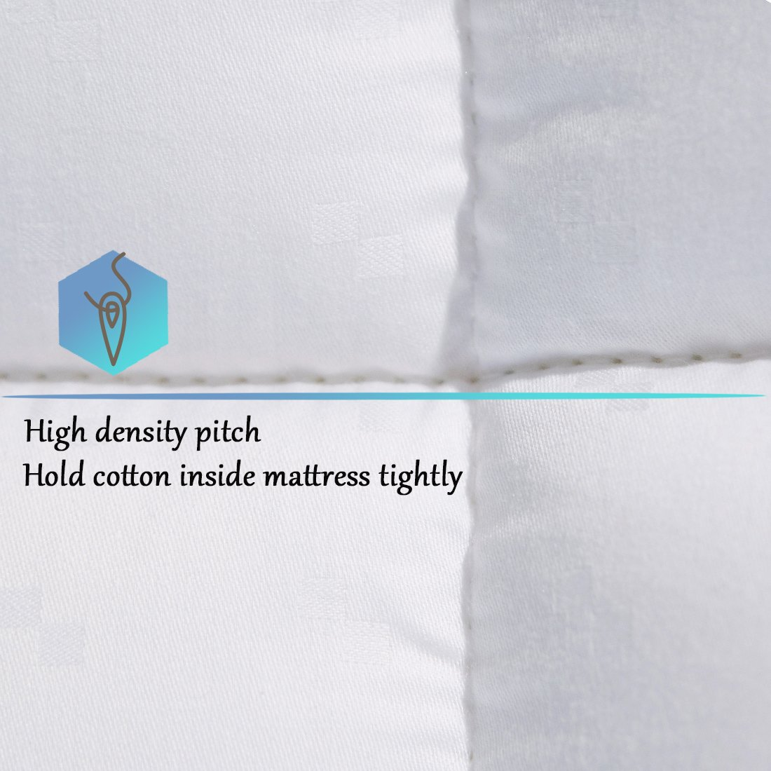 SONORO KATE Mattress Pad Cover Twin XL Size Down Alternative Mattress Topper Fitted Quilted (8-21-Inch Deep Pocket)- Hypoallergenic -(Twin XL, White) by SONORO KATE (Image #7)
