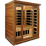 Crystal Sauna LC300 3-Person Luxury Infrared Sauna in Red Cedar