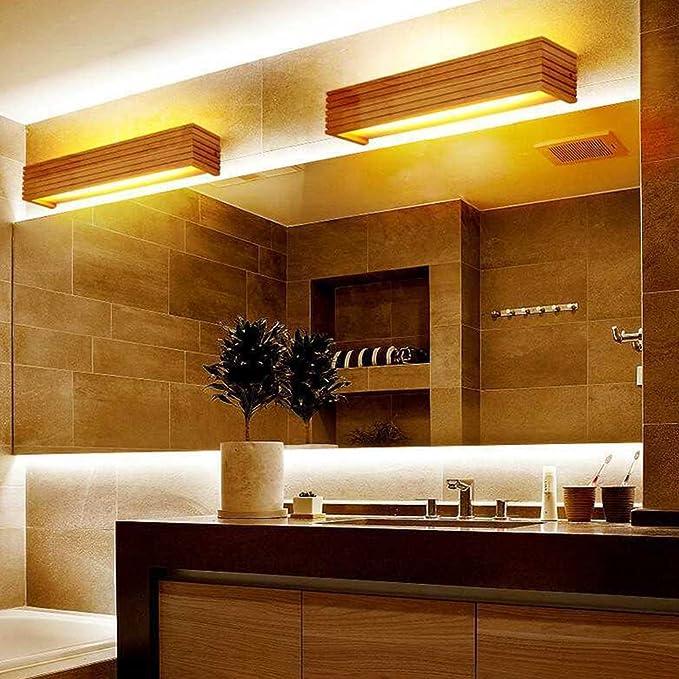 Sheen Moderne Nordeuropa Holz Lichter-wandleuchte,Led 8w 12w Hardwired Err/Ã/¶ten-einfassung Einfachheit Wandlampe Schlafzimmer Bett Salon Veranda Leuchtmittel-55cm-12W