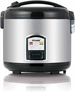 Oyama CFS-F18B 10 Cup Rice Cooker, Stainless Black