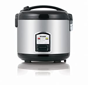 Oyama CFS-F12B 7 Cup Rice Cooker, Stainless Black