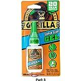 Gorilla 7700104 Super Glue Gel, 3 Pack