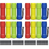Heybright 12 Pack Super Bright COB LED Flashlight Handheld Light 100 Lumen 36 X AAA Included