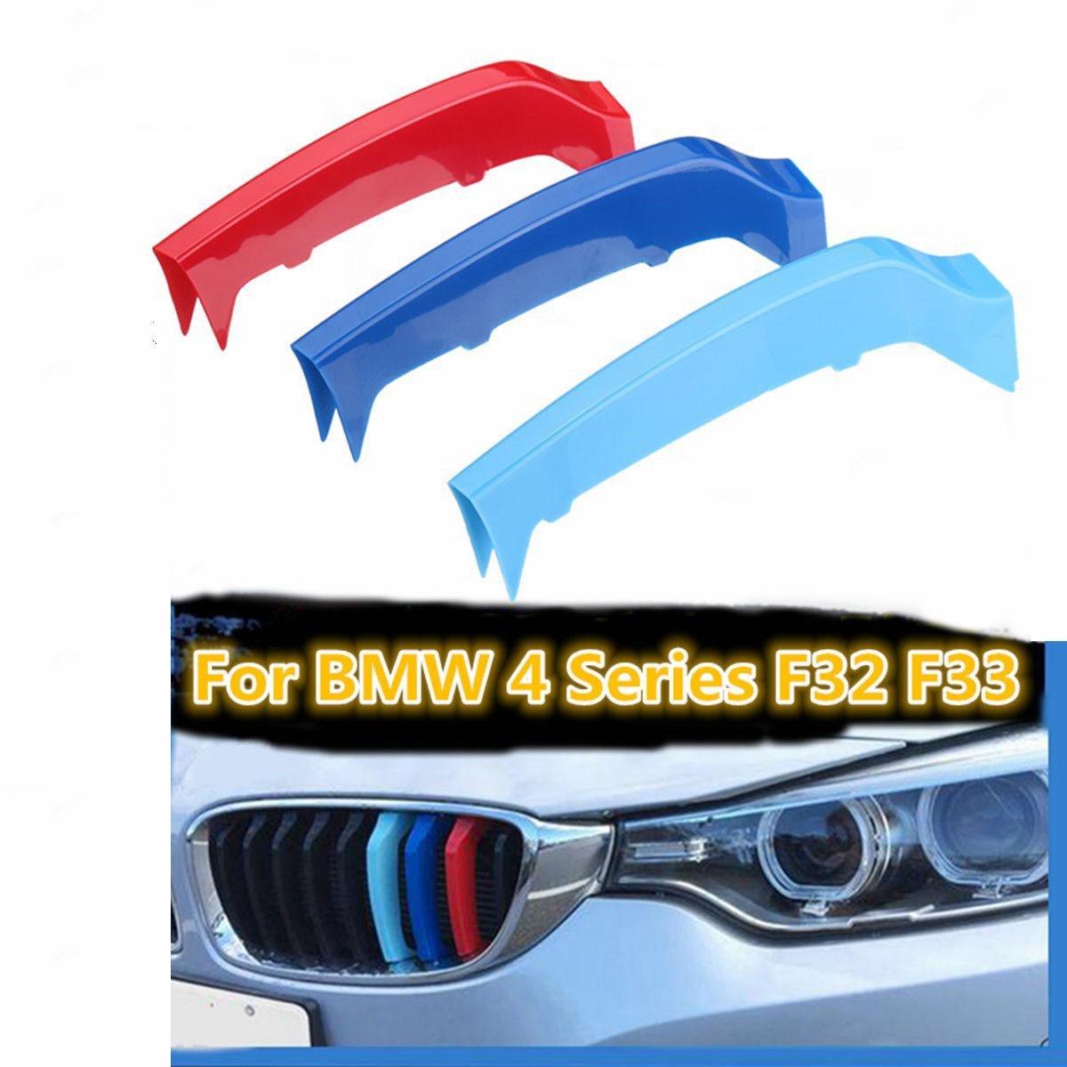 Fundas decorativas de rayas para la rejilla del capó , estilo deportivo, f32, f33, B M W serie 4 2014-2017, rejilla 9 M Power, M Sport Tech Biznon LTD
