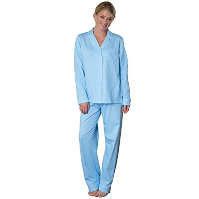 PajamaGram Pajama Set for Women - Cotton Jersey Pajamas Women at Women's Clothing store