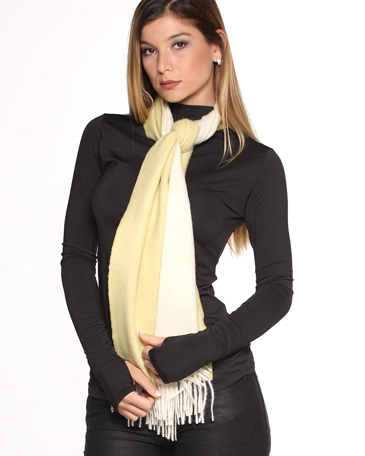 Super Soft and Luxurious Reversible Scarf 100/% Baby Alpaca