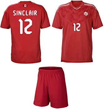 fcd56613a13 Canada  12 Sinclair Home Youth Girls Soccer Jersey Gift Set ✓ Soccer Jersey  ✓ Shorts