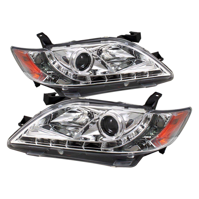 Amazon com spyder auto pro yd tcam07 drl sm toyota camry smoke drl led projector headlight automotive