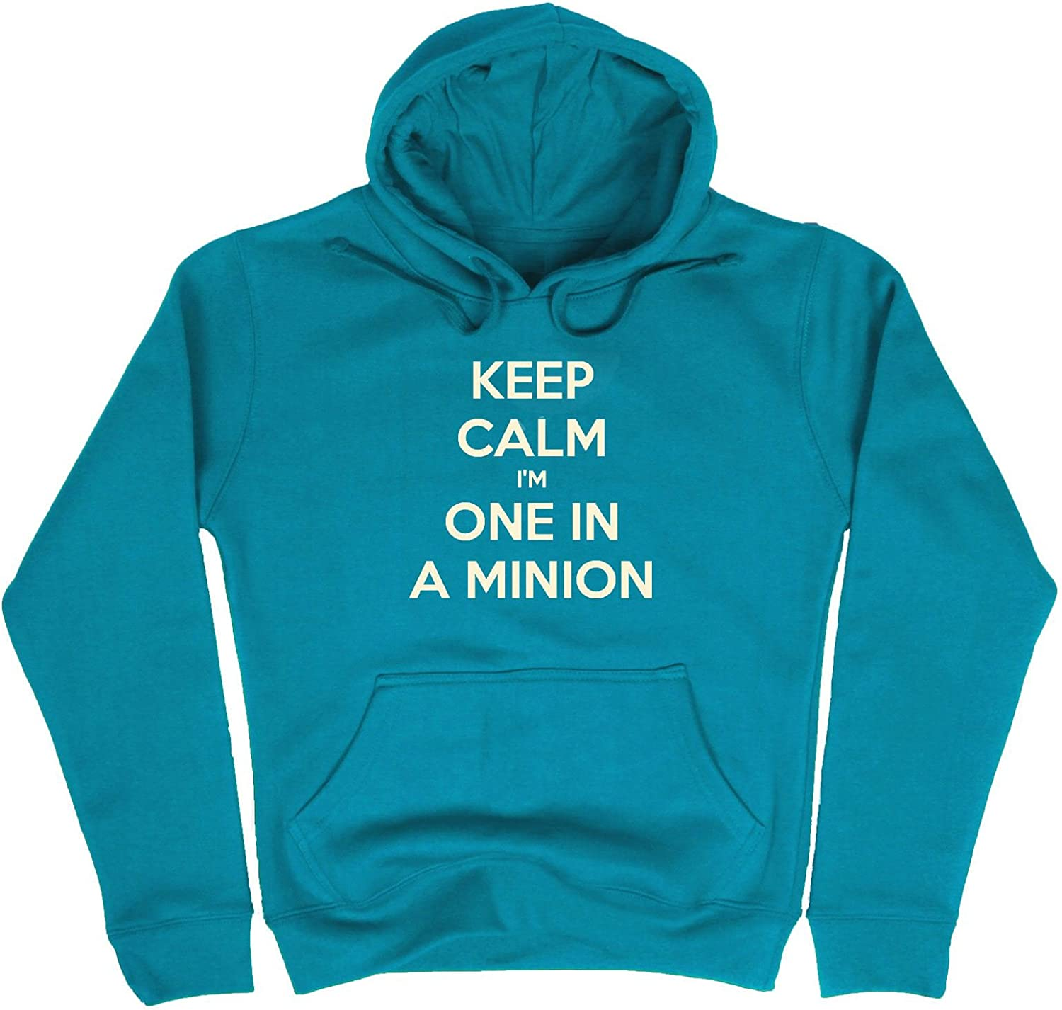Boys Girls Minion Print Hoodie Keep Calm Im One in Minion Hoody Fleece Top Jumper Tracksuit Sweatshirt Hooded Jacket