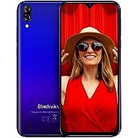 "Blackview A60 Teléfono Móvil 16GB ROM (128GB SD), Pantalla 6.1"" (19.2:9) Water-Drop Screen Movil, 13MP+2MP+5MP, 4080mAh Batería, Android 8.1 Smartphone Libre Dual SIM, GPS/WiFi/Hotspot-Azul"