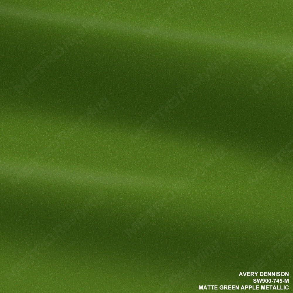 Avery SW900-745-M MATTE APPLE GREEN METALLIC 5ft x 20ft (100 Sq/ft) Supreme Vinyl Car Wrap Film