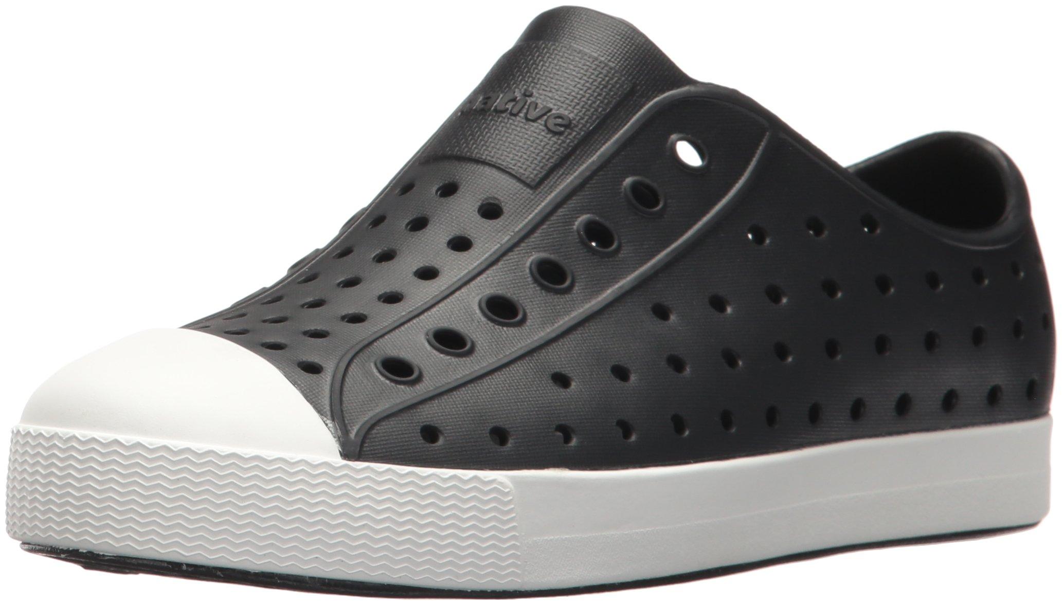 Native Kids unisex-kids Jefferson  Water Shoe,jiffy black/shell white,6 Medium US Big Kid by Native Shoes