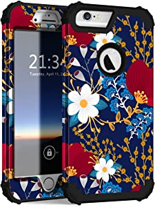 Hocase for iPhone 6s Plus Case/iPhone 6 Plus Case, Heavy Duty Shockproof Hard Plastic+Soft Silicone Rubber Protective Case for iPhone 6s Plus/6 Plus (5.5