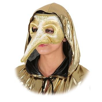 World 16106917 Máscara wopster Máscara Oro Venecia Ball Máscara Larga Nariz Máscara Cuervo Máscara pájaro Máscara