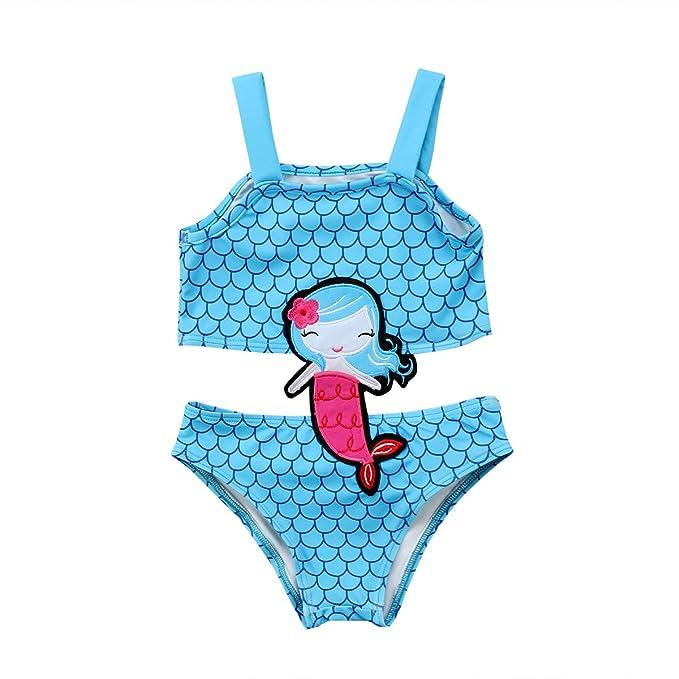 Amazon.com: Traje de baño de sirena con lentejuelas para ...