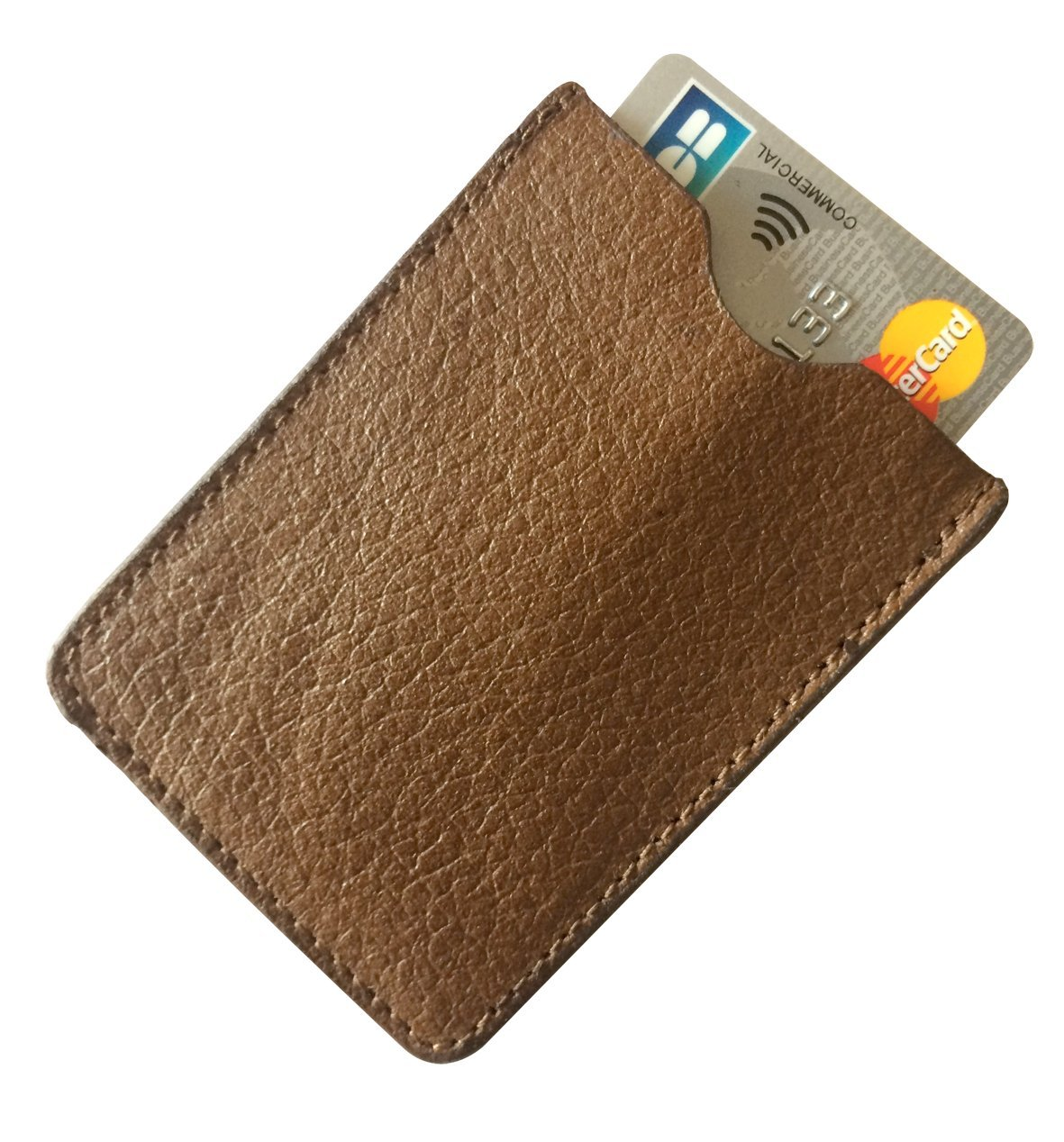 ETUI CUIR MARRON CARTE BANCAIRE SANS CONTACT