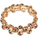 VK Accessories Pearl Beaded Bracelet 2 Styles Bangle Champagne Crystal Hand Chain