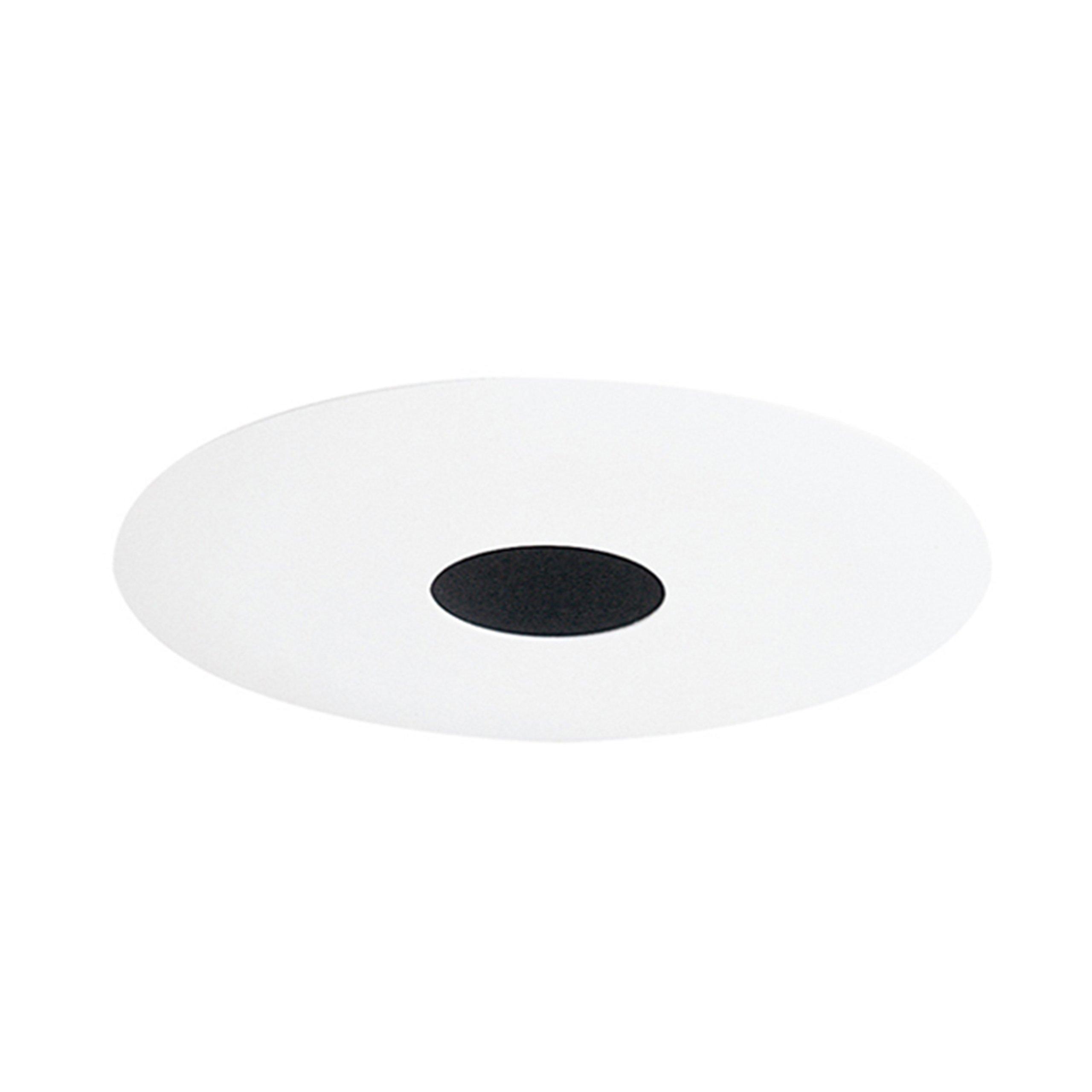 Juno Lighting 443B-WH 4-Inch Pinhole Recessed Trim, Black Baffle with White Trim