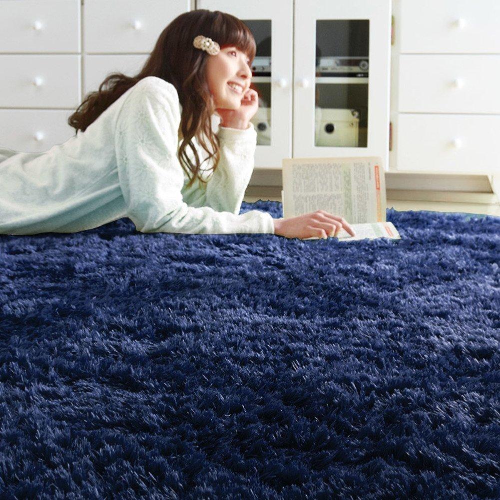 Pure color plush fashion mat carpet Living room [bedroom windows and carpets] Carpet-A 150x150cm(59x59inch)