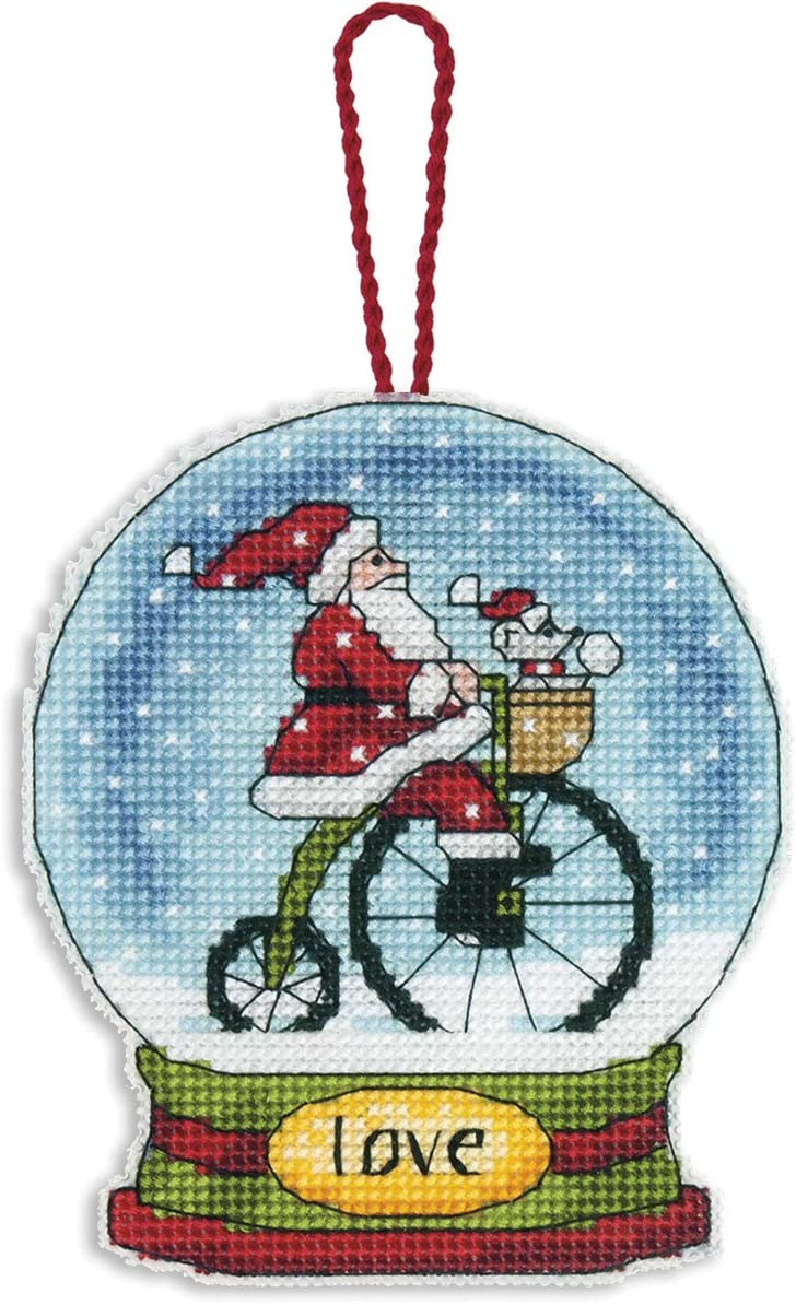 Love Snowglobe Counted Cross Stitch Kit-3.75X4.5 14 Count Plastic Canvas