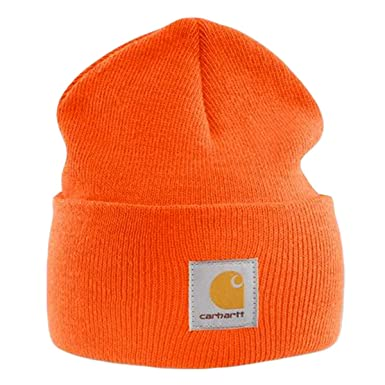 92c89a2f17086 Image Unavailable. Image not available for. Color  Carhartt - Acrylic Watch  Cap - Bright Orange