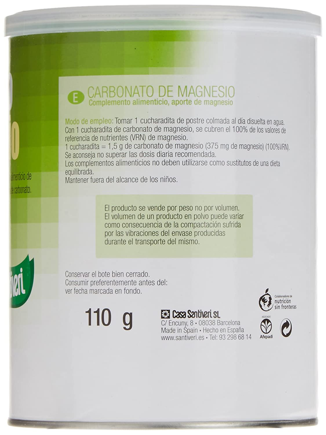 Amazon.com: Magnesium Carbonate 110g Stv: Health & Personal Care
