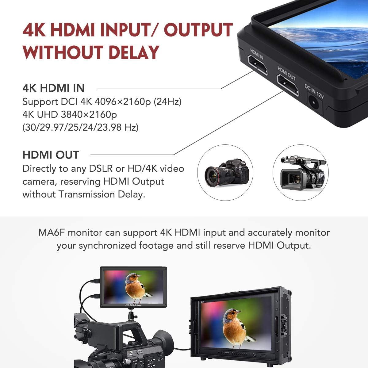 """Feelworld Master MA6F 5.5"""" DSLR Monitor de Campo, Monitor DSLR IPS ..."""