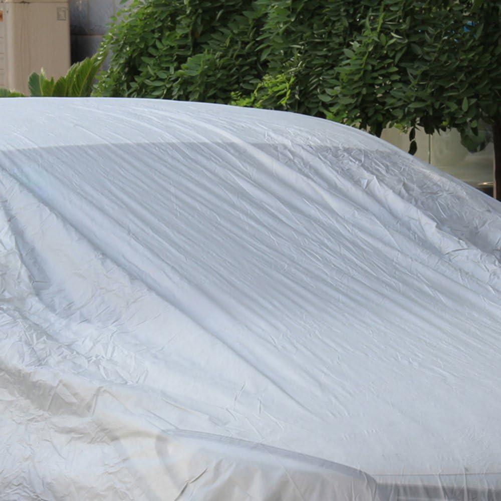 160 MultiWare Auto Abdeckung Autogarage Ganzgarage Abdeckung Abdeckplane Autoplane Wasserdicht UV Sonne Regen Schutz Silber S:400 120CM