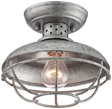 Franklin park 8 12 wide galvanized outdoor ceiling light franklin park 8 12quot wide galvanized outdoor ceiling light mozeypictures Gallery