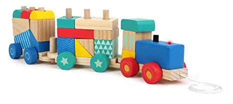 Amazoncom Small Foot Company Wood Wooden Train Sorting Game Toys