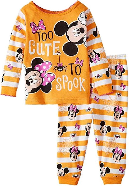 2-Piece Set Halloween Baby Girls Skeleton Cotton Pajamas