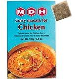 MDH チキンカレーマサラ 100g 1箱 チャイバック1包付き Chicken curry masala スパイス ハーブ 香辛料 調味料 ミックススパイス 業務用