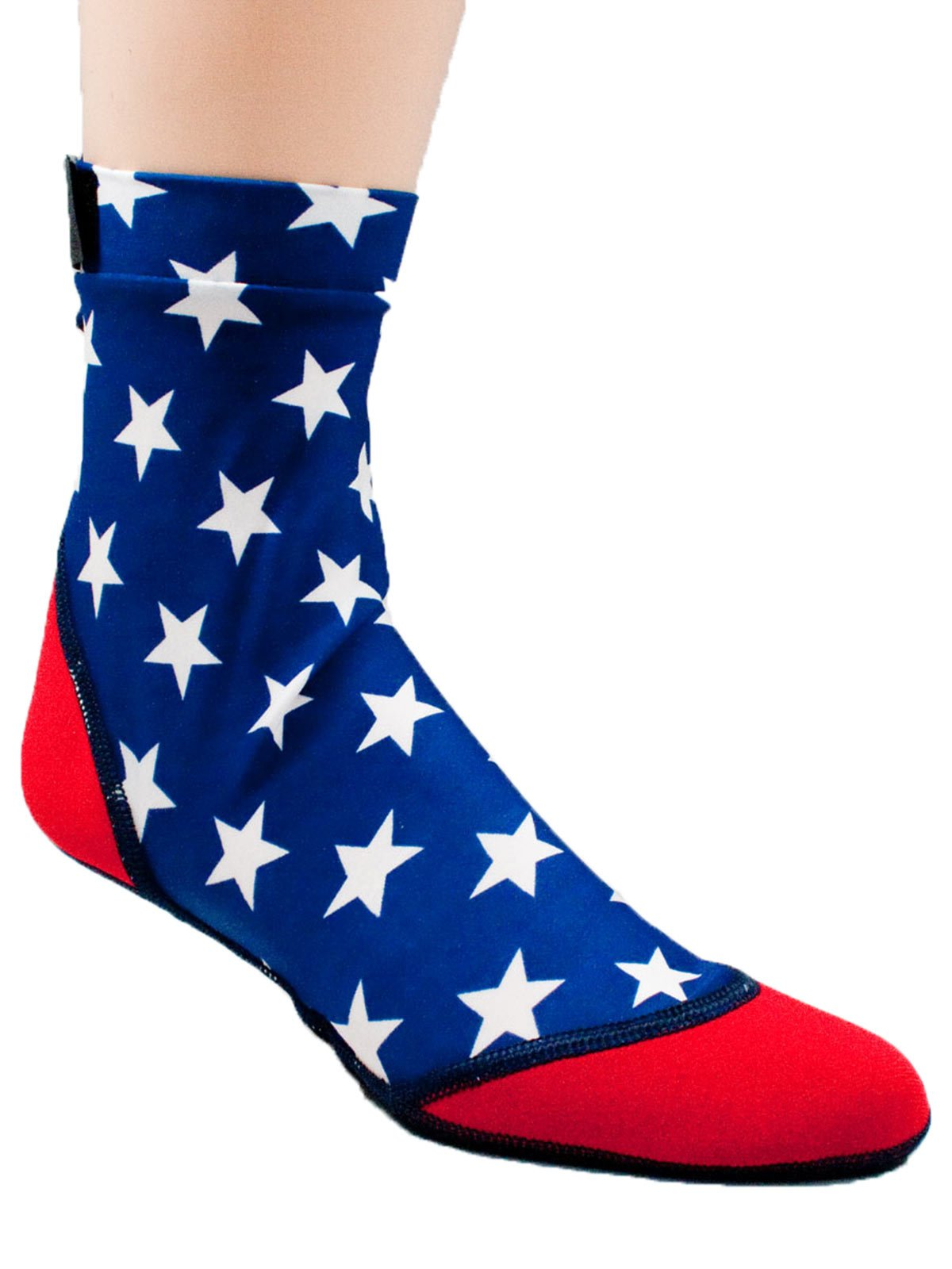 Vincere Sand Socks for Snorkeling, Beach Soccer, Sand Volleyball XXS Patriotic (Made in the USA)