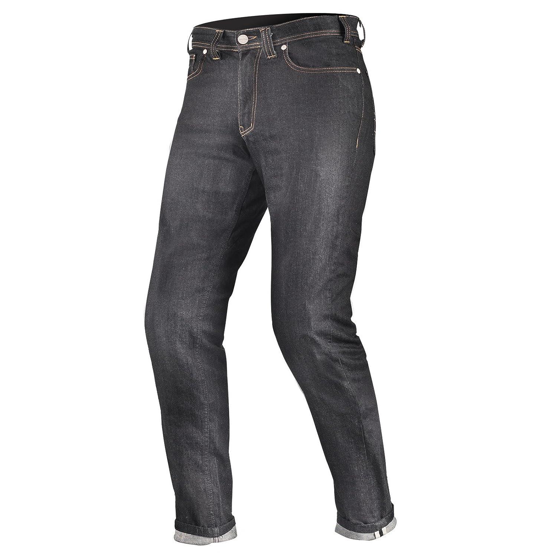 Shima TARMAC RAW DENIM Kevlar Herren Motorradhose Jeans Sas-Tec Mit Protektoren Raw Denim Long Blau W34//L32